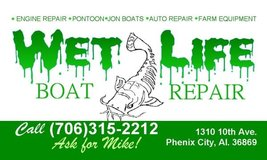 Wet Life Boat Repair / Military Discount is offered! in Fort Benning, Georgia