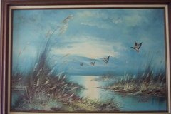 OIL PAINTING, FLYING DUCKS in Fort Rucker, Alabama