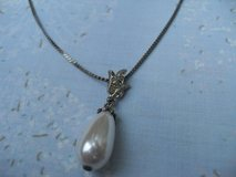 Necklace Vintage 80s Teardrop Pearl Pendant from Crystal Bale in Houston, Texas
