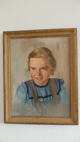 Antique Oil Painting/German Girl in Stuttgart, GE